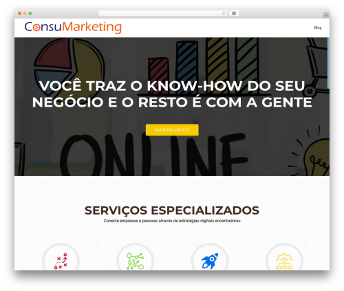 OnePirate theme WordPress - consumarketing.com.br