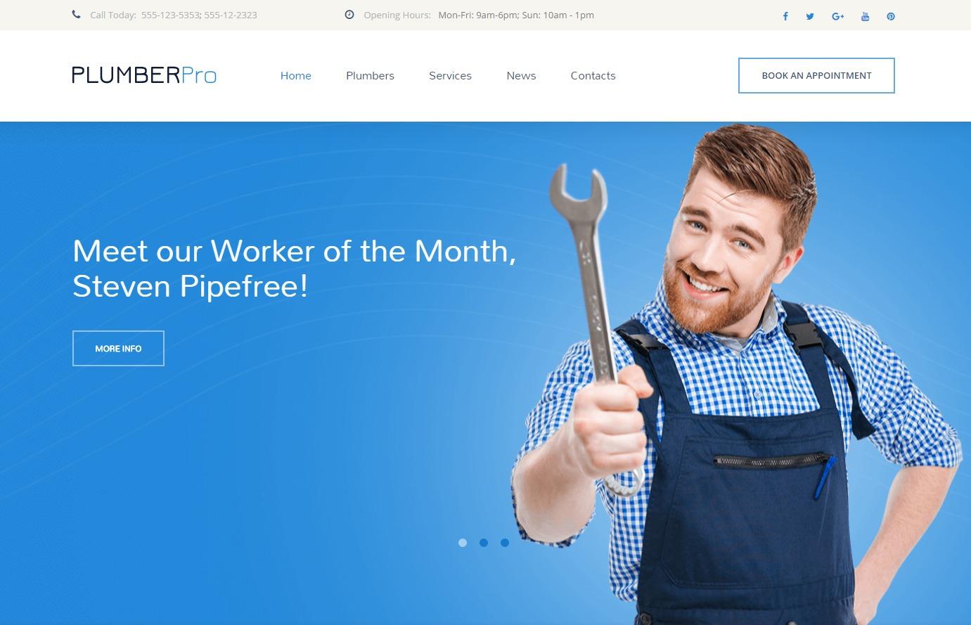 Plumberpro WordPress theme