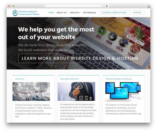 Success WordPress website template - chrysalisitconsulting.com