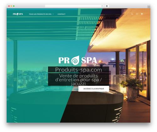 UX Shop theme WordPress - produits-spa.com