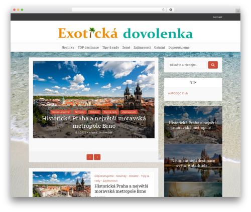 Voice theme WordPress - exoticka-dovolenka.eu