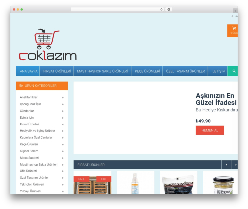 WordPress theme HomeShop - coklazim.com