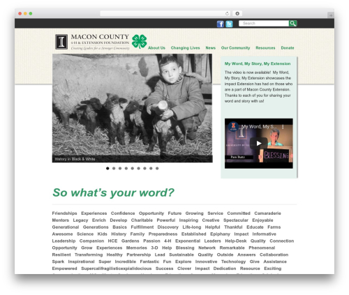 Free WordPress Nice Navigation plugin - macon4hfoundation.org