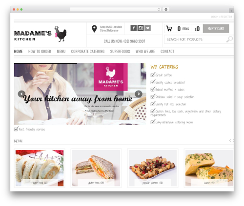 Best WordPress theme Bazar - madameskitchen.com.au