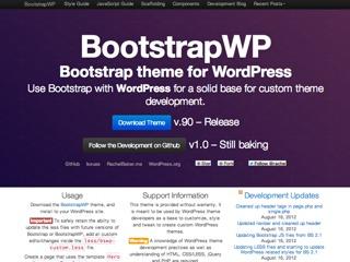 BootstrapWP WordPress theme design