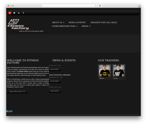 cherry fitness WordPress theme - fitnessfactory.ae