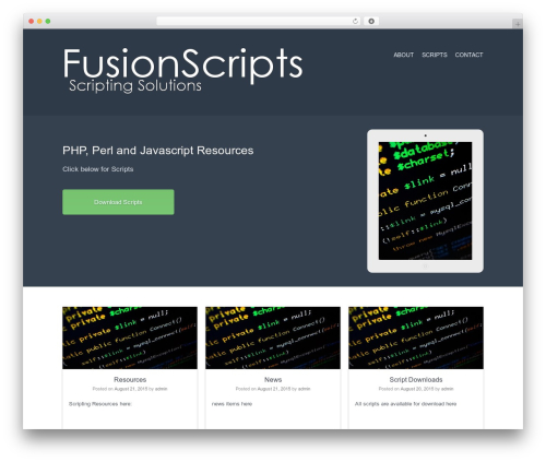 Current WordPress theme free download - fusionscripts.org/wordpress