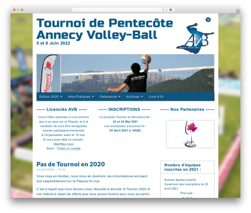 Gridiculous template WordPress free - tournoi.annecy-volleyball.com
