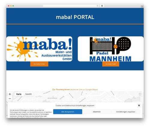 Impreza theme WordPress - maba-gmbh.de