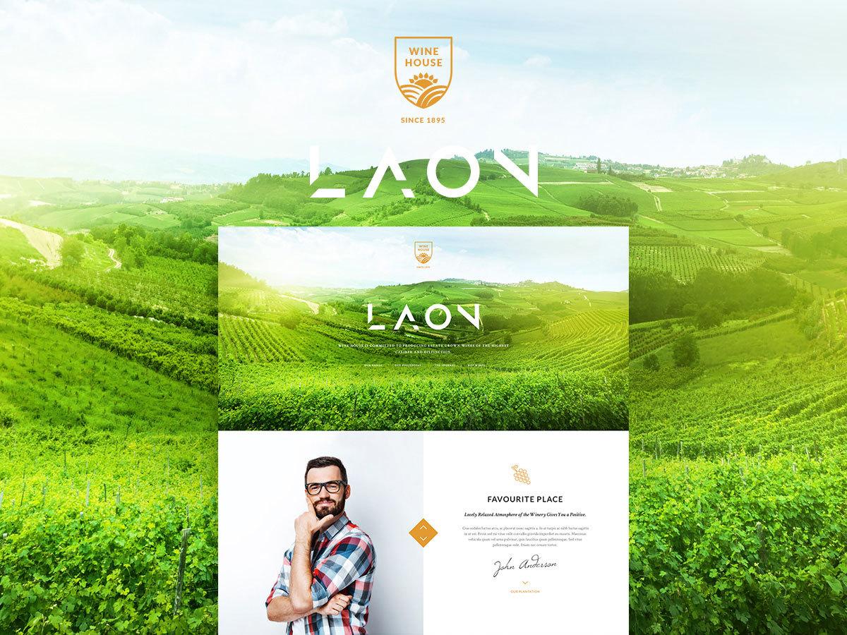 LAON WINE HOUSE WordPress blog theme