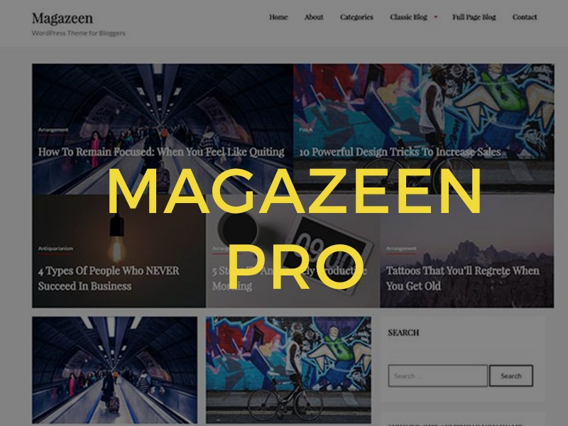 magazeenPRO WordPress theme design