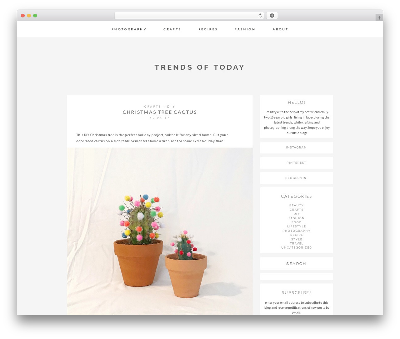 mell WordPress template - trends-of-today.com