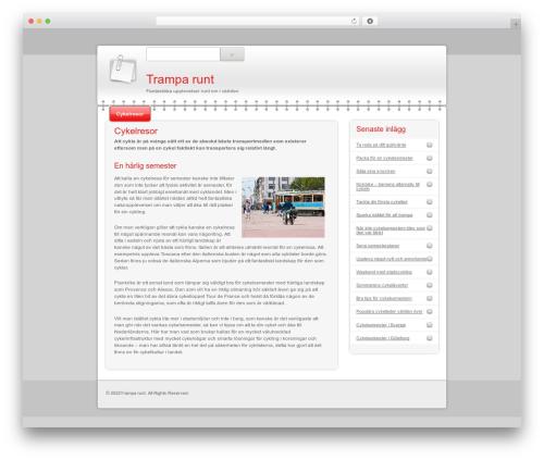 Modern Notepad top WordPress theme - tramparunt.com