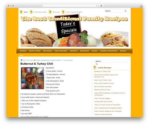 MyRecipe theme WordPress - thebesttraditionalfamilyrecipes.com