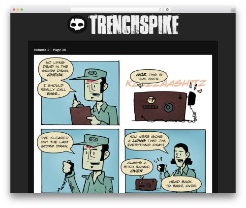 Panel theme WordPress - trenchspike.com