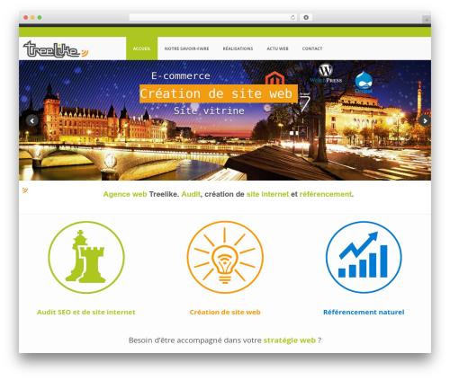 Template WordPress BUILDER THEME - treelike.net