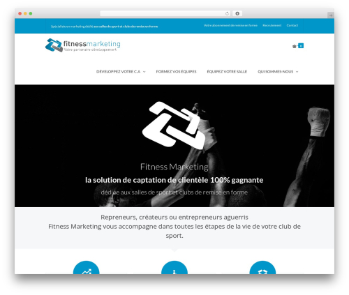 TheFox top WordPress theme - fitnessmarketing.fr