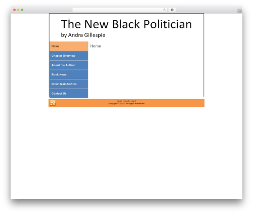 Theme WordPress Booker - thenewblackpolitician.com