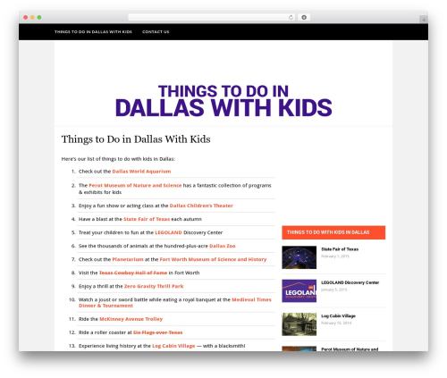 Theme WordPress Hickory - thingstodoindallaswithkids.com