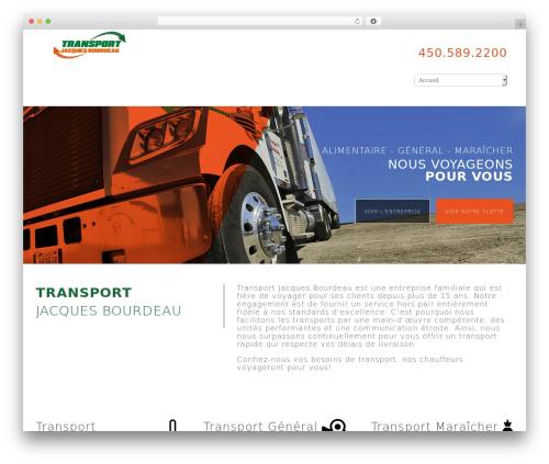 Theme WordPress Novus - transportjacquesbourdeau.com