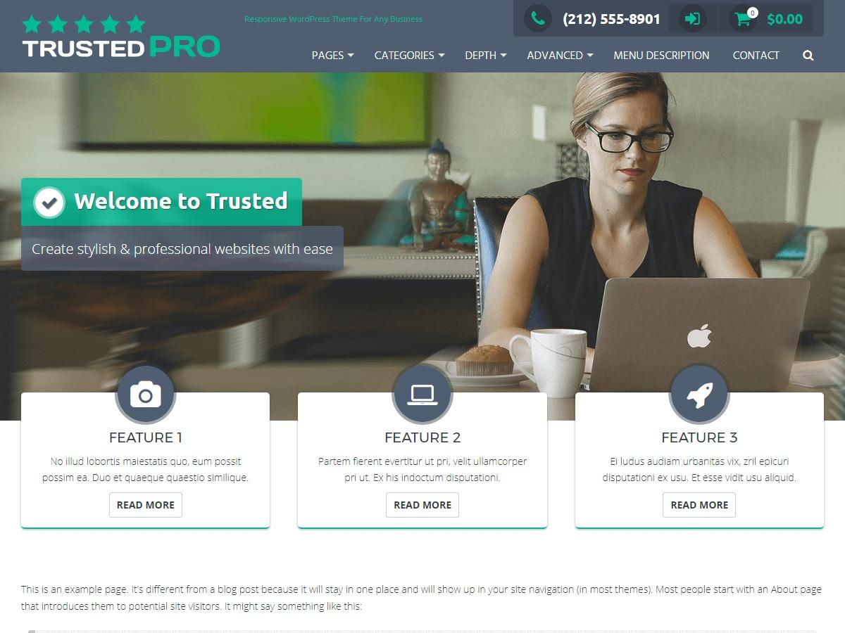 Trusted Pro WordPress ecommerce theme