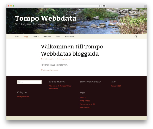 Twenty Thirteen WordPress theme design - tompo.se