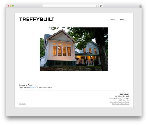 Twenty Twelve template WordPress free - treffybuilt.com