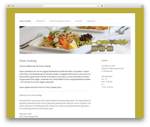 Twenty Twelve WordPress theme download - fresh-cooking.net