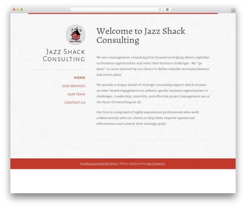 typefocus template WordPress - thejazzshack.com