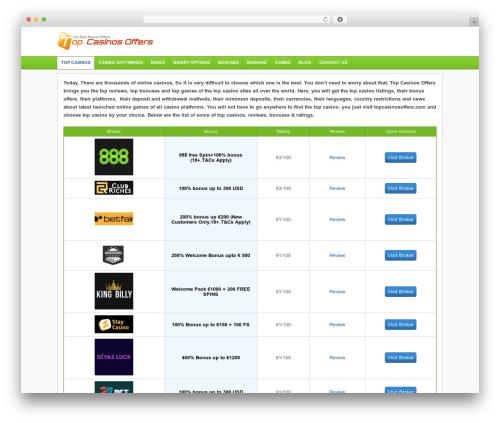 WordPress theme Financial Trading Theme - topcasinosoffers.com