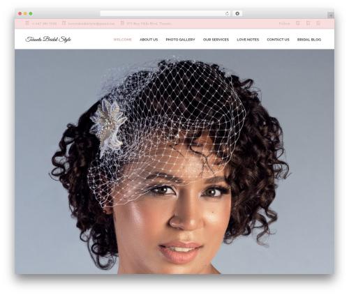 WordPress theme OneLove - torontobridalstyle.com