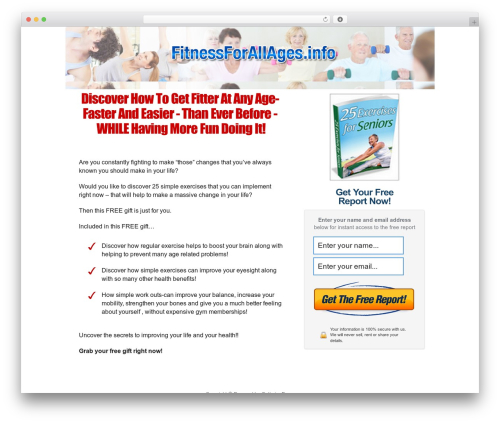 WordPress theme OptimizePressLite - fitnessforallages.info