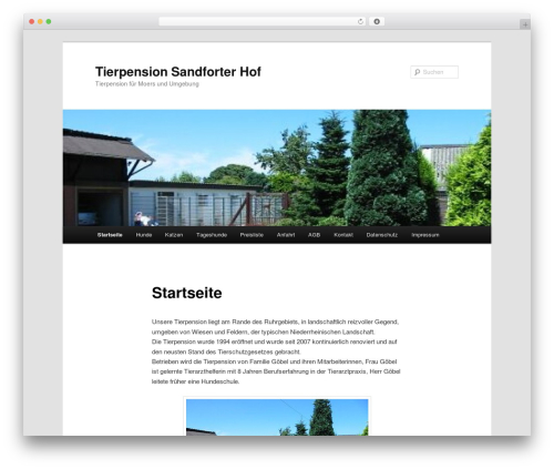 WordPress theme Twenty Eleven - tierpension.sandforter-hof.de