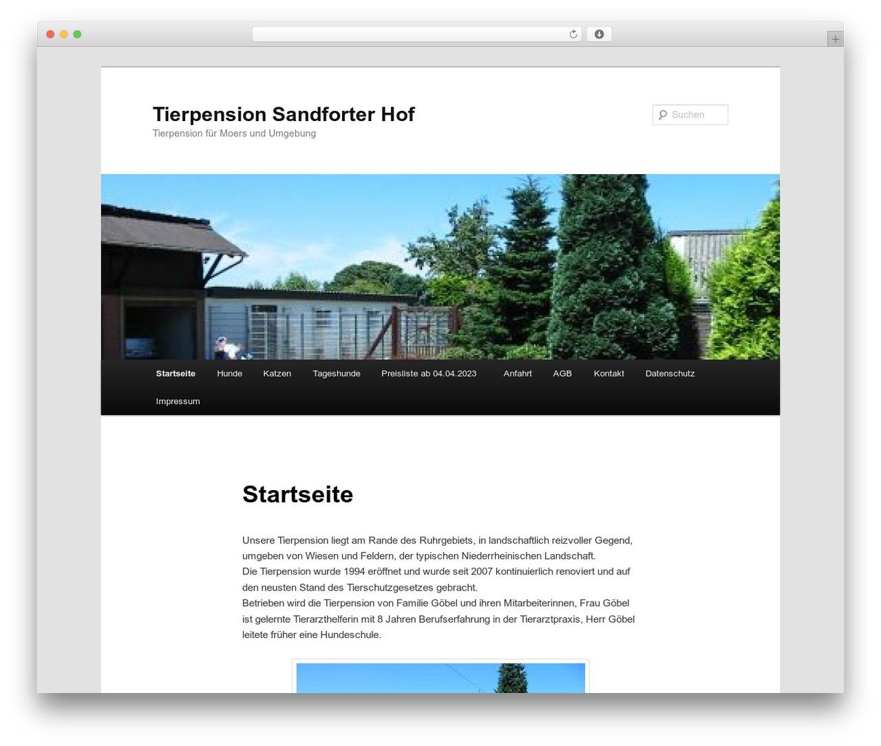 WordPress theme Twenty Eleven - tierpension.sandforter-hof.de