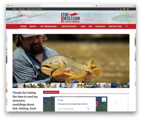 WordPress website template Newspaper - theobsessionofcarterandrews.com
