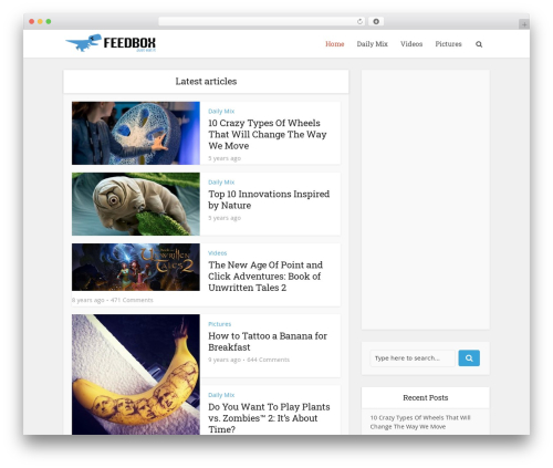 WordPress website template Voice | Shared by Themes24x7.com - feedbox.info