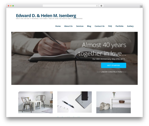 Ascension WordPress theme design - isenberg-family.net