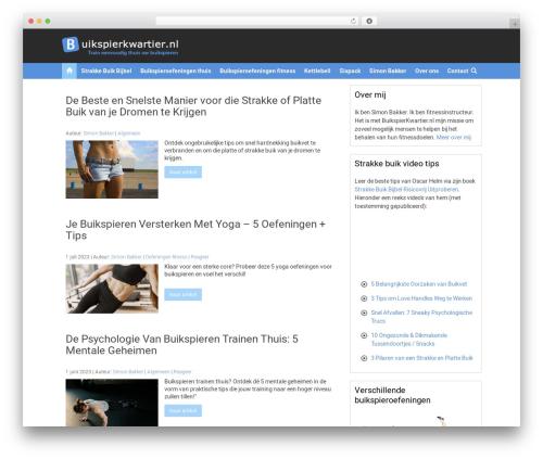 Convergence theme WordPress - buikspierkwartier.nl