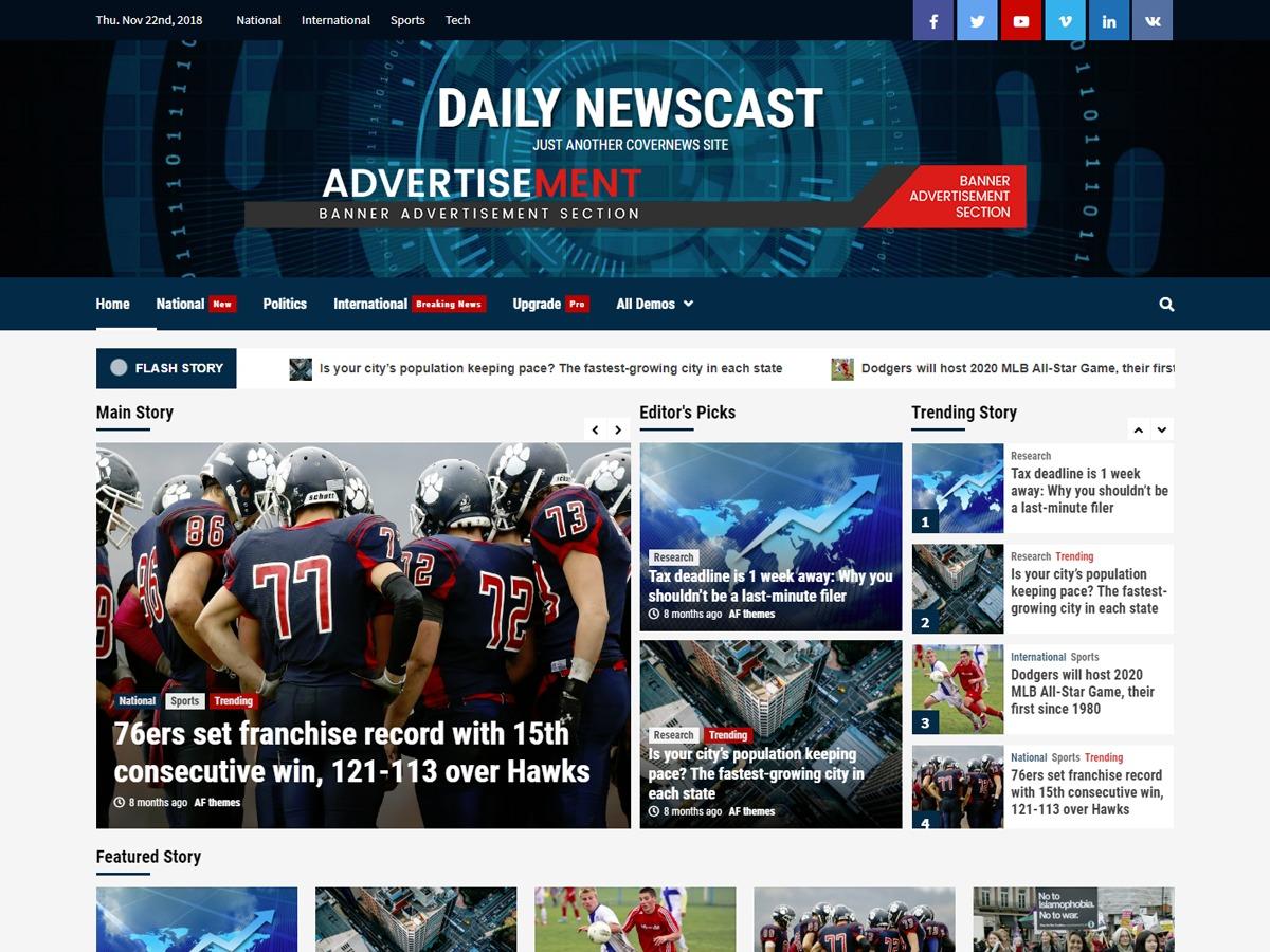 Daily Newscast WordPress news theme
