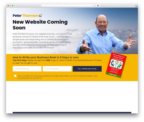 Movedo business WordPress theme - peterthomson.com