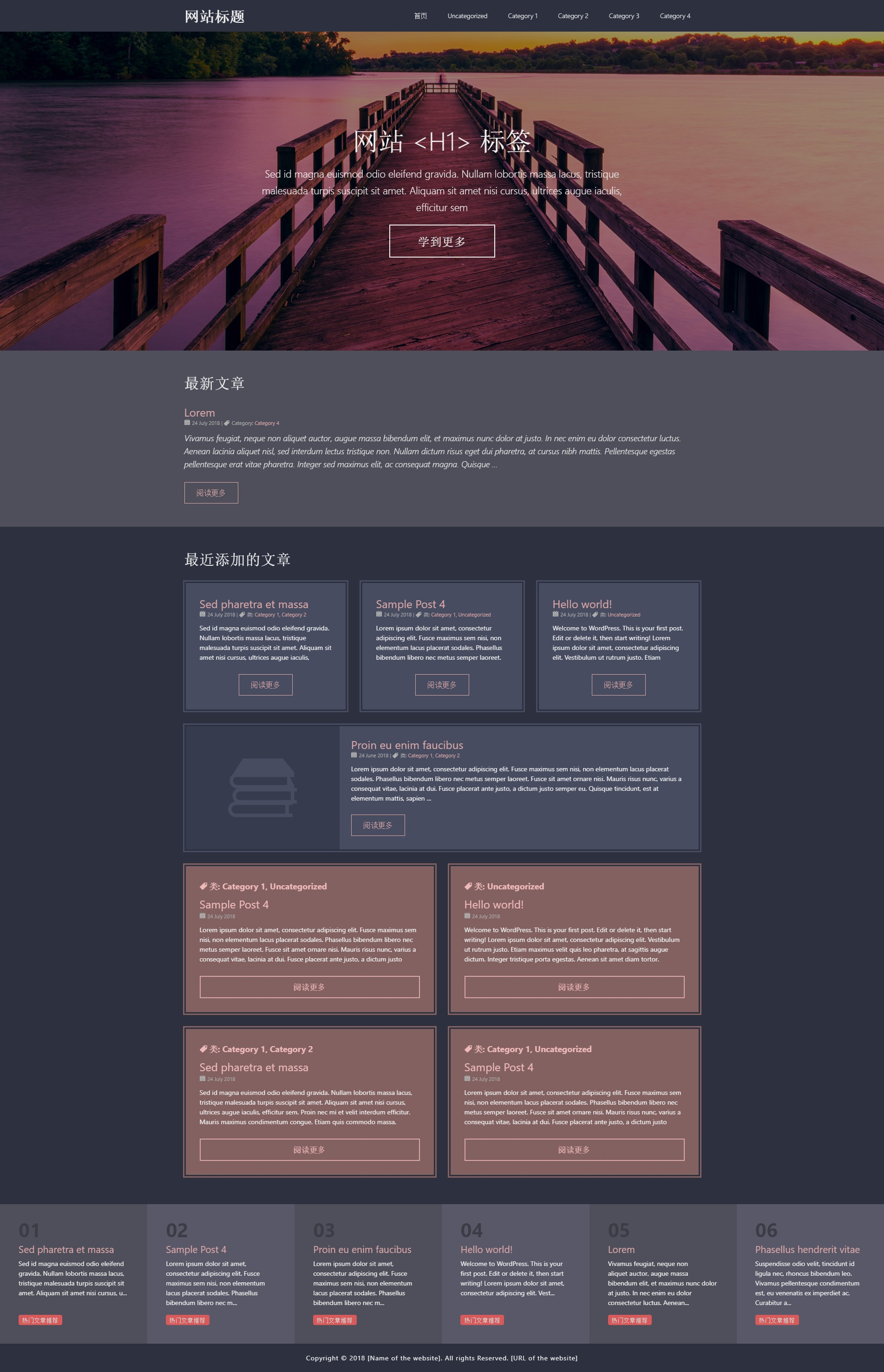 template6 WordPress movie theme