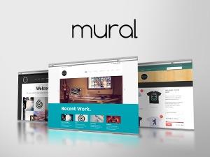 WordPress website template Mural ()