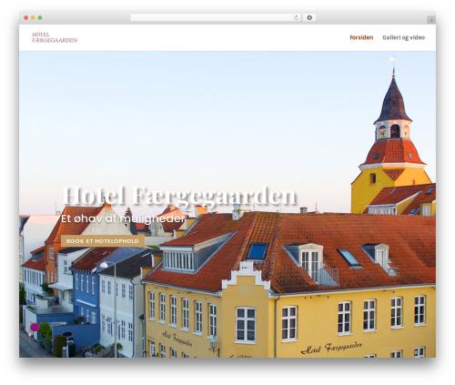 Divi best hotel WordPress theme - hotelfg.dk