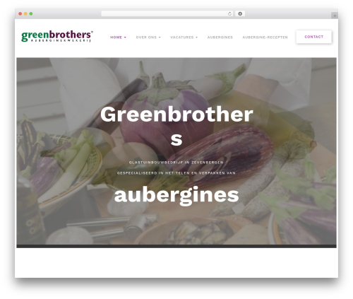 Oncourse best WordPress theme - greenbrothers.nl