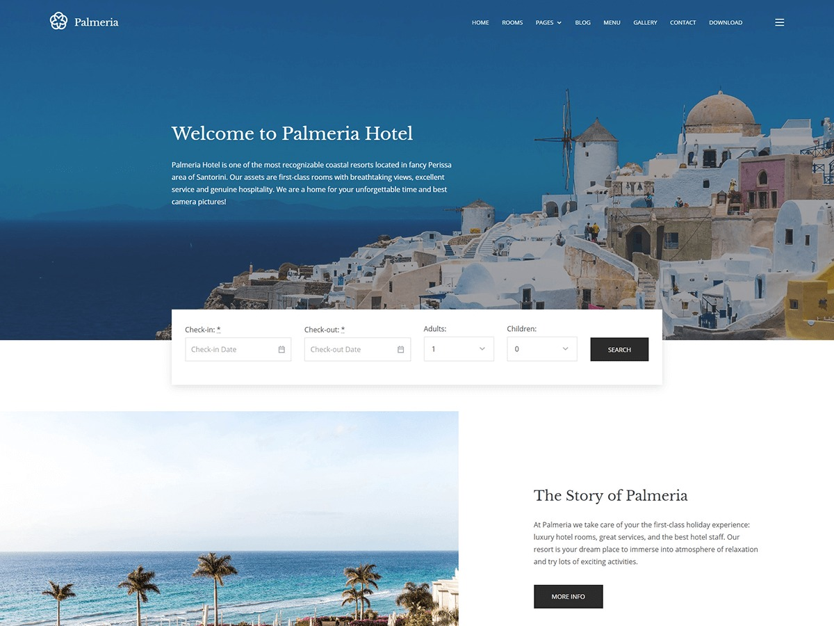 Palmeria WordPress template for business