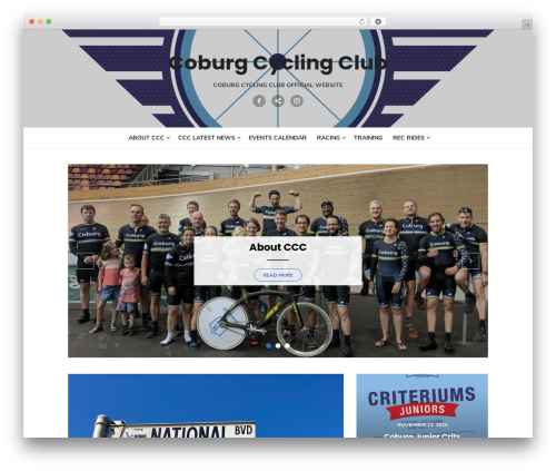 Type Plus WordPress website template - coburgcycling.com.au