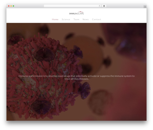 WordPress theme Salient - immunscape.com