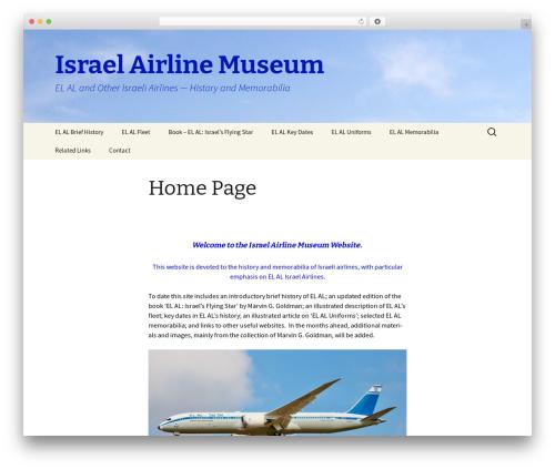 WordPress theme Twenty Thirteen - israelairlinemuseum.org