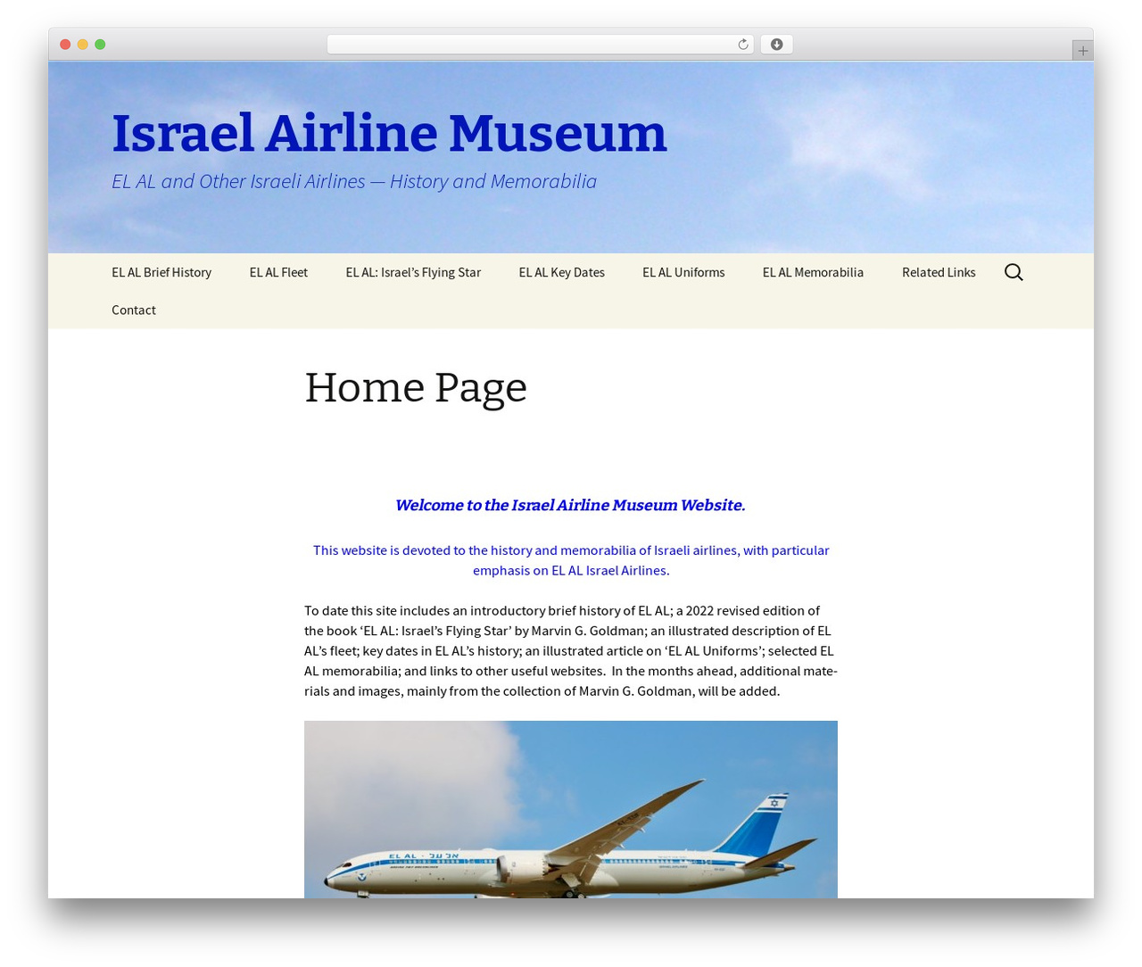 WordPress theme Twenty Thirteen - israelairlinemuseum.org