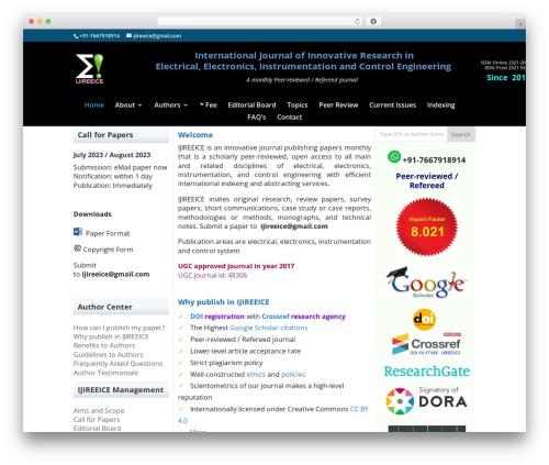 Best WordPress theme Divi - ijireeice.com